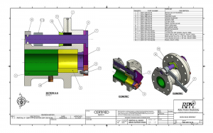 CAD drawing of a blowvalve.